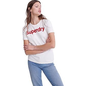 スーパードライ フロック T シャツ ホワイト 48
