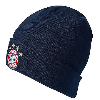 FC Bayern Munich Unisex Adults Crest Cuff Knitted Hat