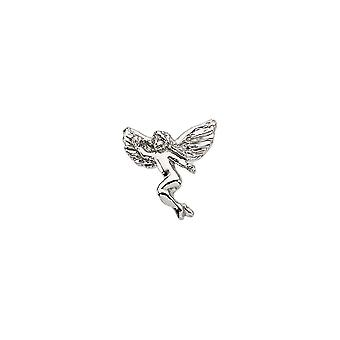 925 Sterling Silver 12x13mm Polished Dancing Religious Guardian Angel Lapel Pin Jewelry Gifts for Men