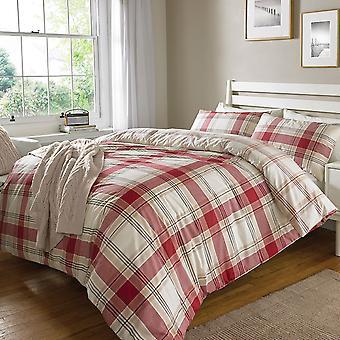 Überprüfen Sie das rote Bettenset