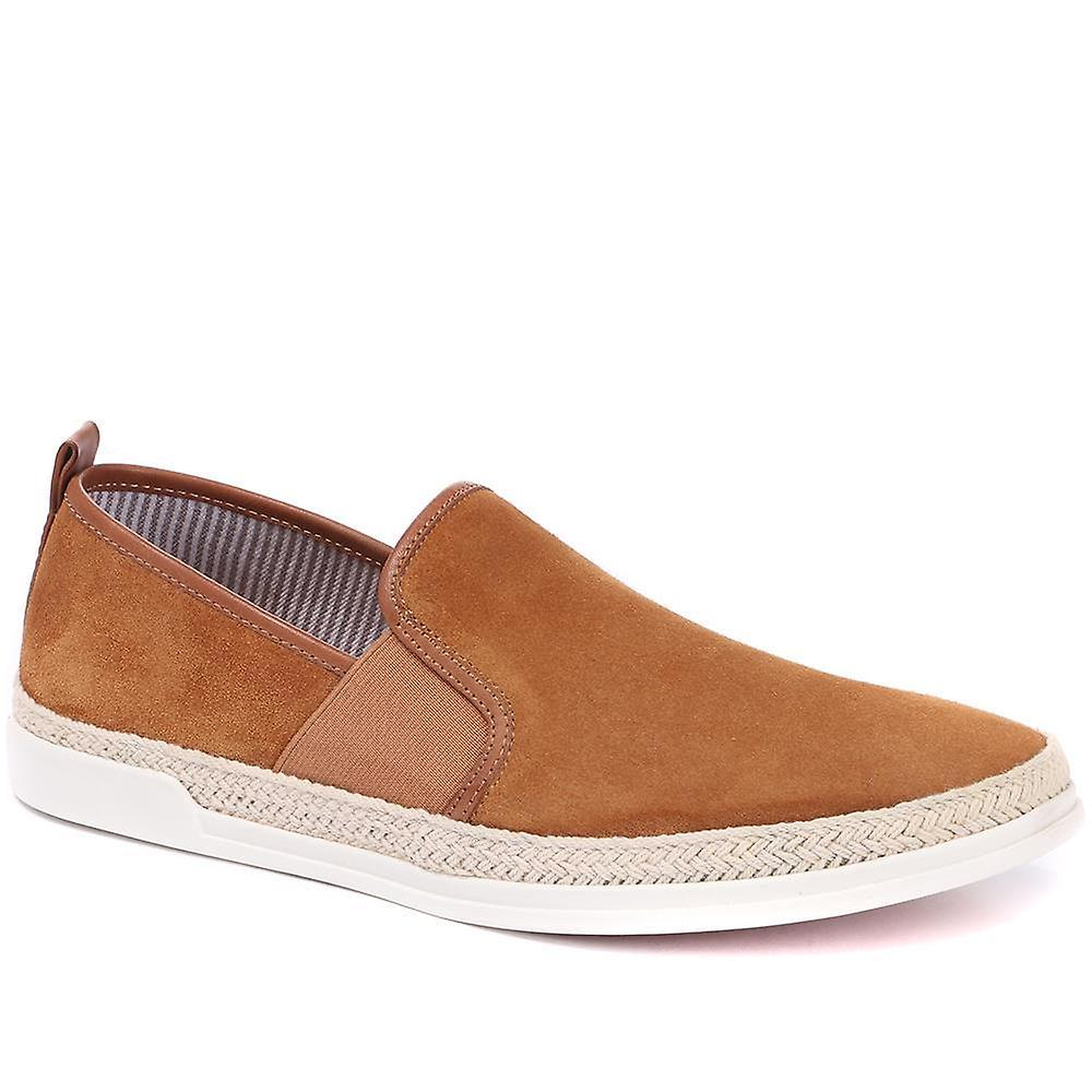 Suede leather loafer - reni29500 / 315 553