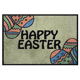 Design Doormat Dirt Trap Mat Happy Easter Green Easter Decoration 40x60 cm