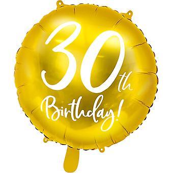 Foil balloon Gold 30 years | 45 cm