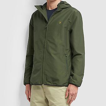 Farah Strode Hooded Coat - Moss
