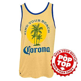 Corona Find Your Beach Yellow Tank Top With Bottle Opener