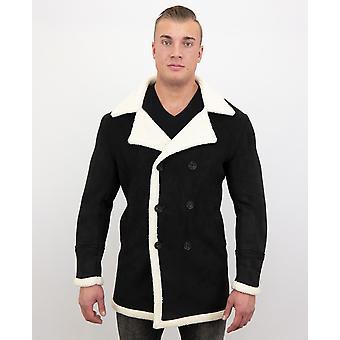 Manteau en fausse fourrure Parka-Lammy Coat-Black