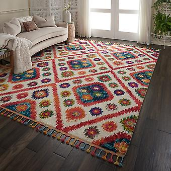 Nomad Rugs Nmd03 By Nourison In Ivory Pink