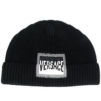 Cappello Maglia Nero Logo Beanie