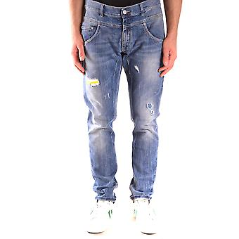 Daniele Alessandrini Ezbc107218 Men's Blue Cotton Jeans