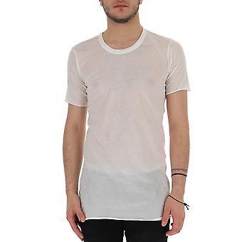 Rick Owens Ru19f4251uc11 Men's White Cotton T-shirt