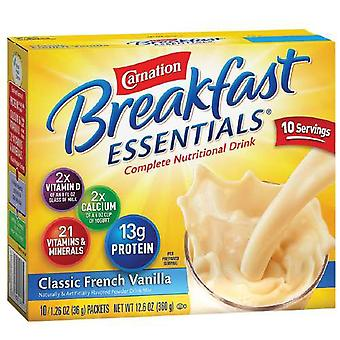 Carnation breakfast essentials drink, classic french vanilla, 10 ea