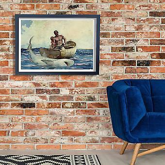 Winslow Homer - Shark fishing Poster Print Giclee