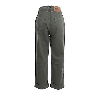 Oneteaspoon 22948khaki Women's Green Cotton Pants