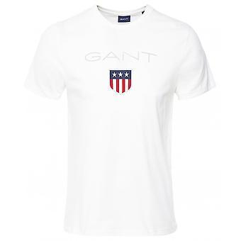 GANT tripulação pescoço escudo logo T-shirt