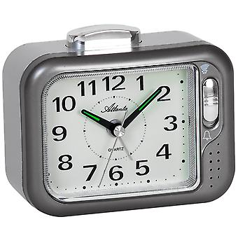 Atlanta 1942/4 alarm clock quartz analog anthracite Bell or beep tone