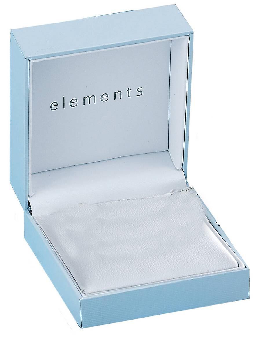 Elements Silver Amethyst Teardrop Pendant - Silver/Purple