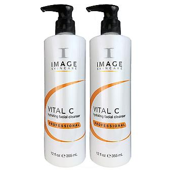 Image vital c hydrating facial cleanser professional 12 oz duo pack
