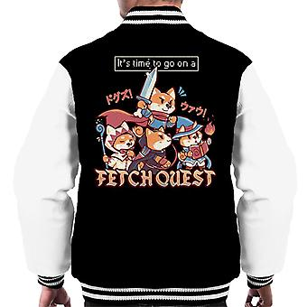 Its Time To Go On A Fetch Quest RPG Shiba Inu Men's Varsity Jacket