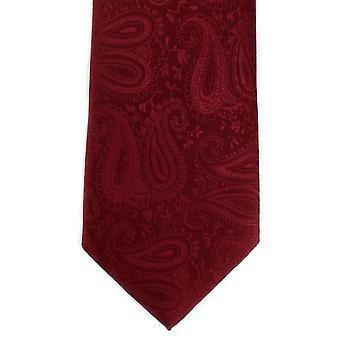 Michelsons av London tonala Paisley Polyester slips - mörkröd