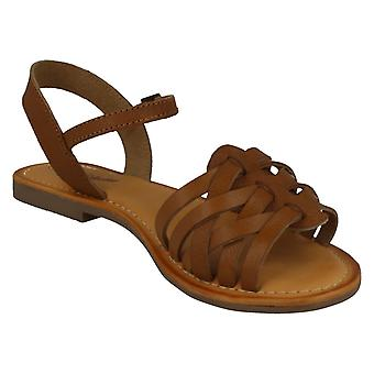 Leather Collection Womens/Ladies Leather Strappy Sandals