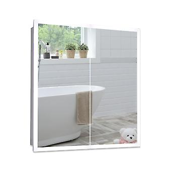 Neue Design LED Bathroom Mirror Cabinet 70cm(H)x65cm(W)x15cm(D)  C27