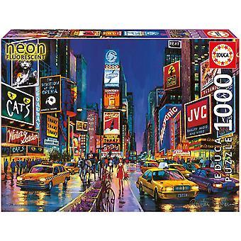 Times square neon fluorescent ~ 1000 piece educa jigsaw puzzle