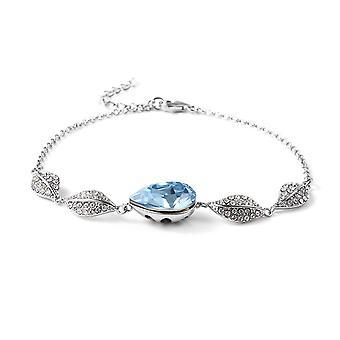 TJC Made with Swarovski Crystal Leaf Bracelet Sterling Silver , 4.55 Ct