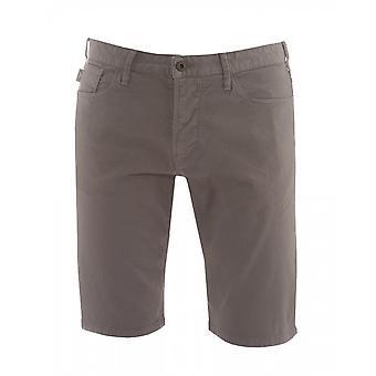 Emporio Armani Cotton Grey Shorts