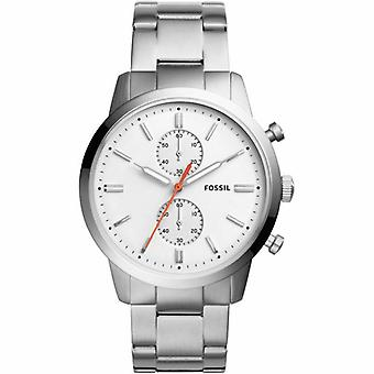 Fossil FS5346 Analog Stainless Steel White Dial Men's Watch