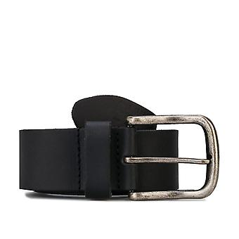 Accessories Jack Jones David Leather Belt in Black