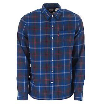 Men's Levis Sunset Pocket Camicia in blu