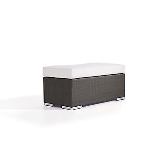Polyrattan Cube kruk 45 cm - antraciet