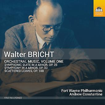Bricht - Orchestral Music 1 [CD] USA import