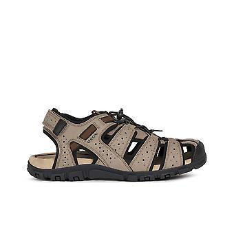 Geox uomo sandal strada sandaler herre beige, sort
