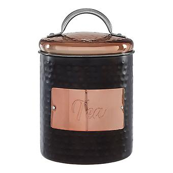 Prescott Hammered Tea Canister
