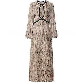 RIXO Iris Keyhole Lurex Dress