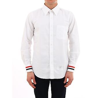 Thom Browne Mwl289a00139100 Men's White Cotton Shirt