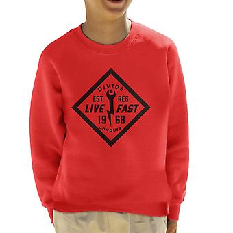 Divide & Conquer Live Fast Wrench Kid's Sweatshirt