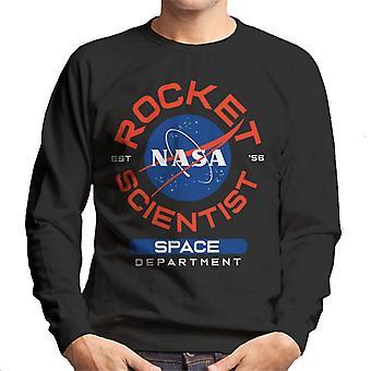 Ruimtevaart afdeling van het NASA raket wetenschapper mannen Sweatshirt