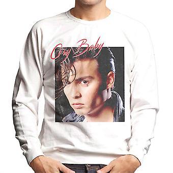 Cry Baby Johnny Depp Distressed Portrait Men's Sweatshirt