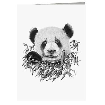 Eating Panda Greeting Card