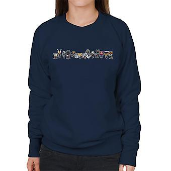 Aggretsuko Characters Side By Side Montage Women's Sweatshirt