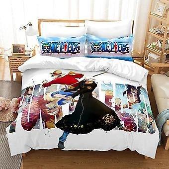 Monkey Printed Cartoon Quilt Cover And Pillowcase