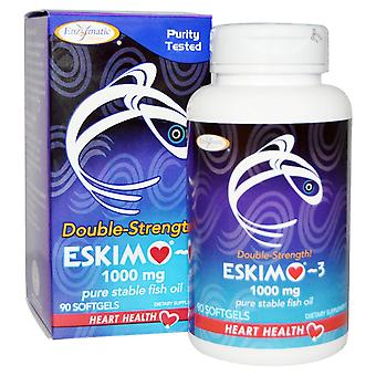 Enzymatic Therapy, Eskimo-3, Double Strength, 1000 mg, 90 Softgels