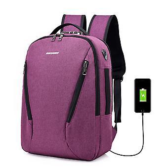 Männliche Outdoor-Reise College Schultasche mit USB-Ladeanschluss