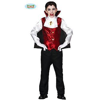 Traje de Guirca Conde Drácula para crianças Halloween vampiros sugadores de sangue