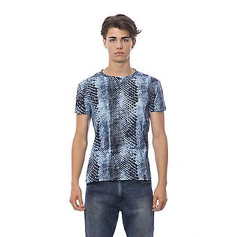 Roberto Cavalli Sport Blue T-Shirt RO678612-3XL