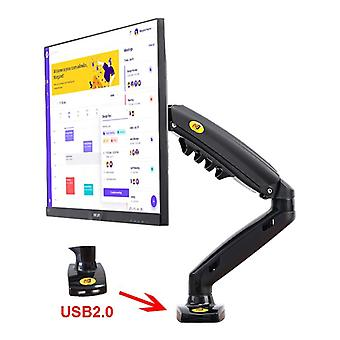 "Nb F80 + 2 X Usb3.0 Desktop Gas Spring 17-27"" Lcd Led Monitor Holder, Mount"