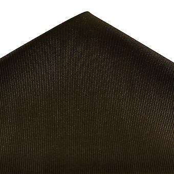 Ties Planet Plain Brown Silk Pocket Square Handkeref