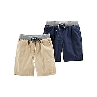Simple Joys by Carter's Baby Boys' Toddler 2-Pack Shorts, Khaki, Navy, 4T
